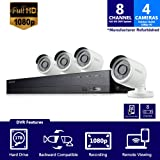 SDH-B74041 - Samsung 8 Channel 1080p HD 1TB Security Camera System with 4 Outdoor BNC Bullet Cameras (SDC-9443BC) (Seller Refurbished)