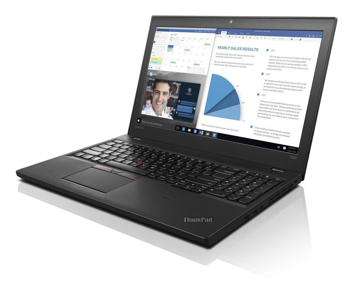 Lenovo Thinkpad Business-Ready Laptop T560 FHD (15.6'', i5-6200U 2.3GHz, 8GB RAM, 500GB 7200rpm, Backlit Keyboard, Webcam, Fingerprint Reader, Windows 7 Pro Downgradeable Windows 10 Pro)