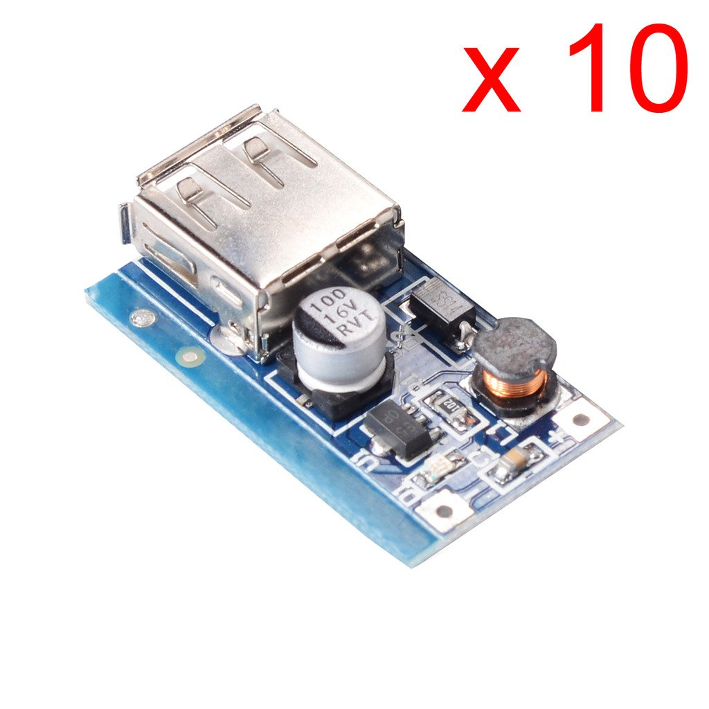 DAOKI 10PCS PFM Control DC USB 0.9V-5V to 5V dc Boost Step-up Power Supply Modul TS-US-252_10