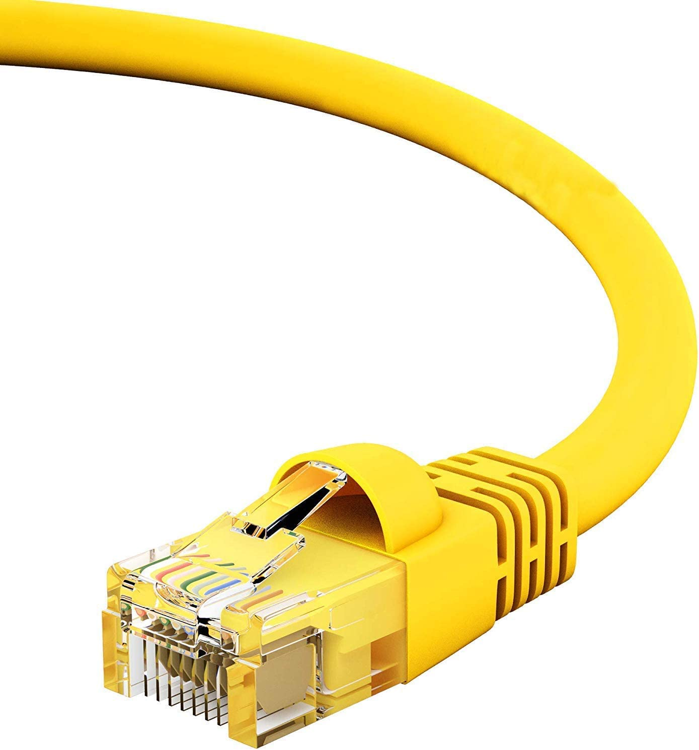 24AWG Network Cable with Gold Plated RJ45 Snagless//Molded//Booted Connector CABLECHOICE Cat5e Ethernet Cable 40 Feet - Yellow 350MHz 1Gigabit//Sec High Speed LAN Internet//Patch Cable