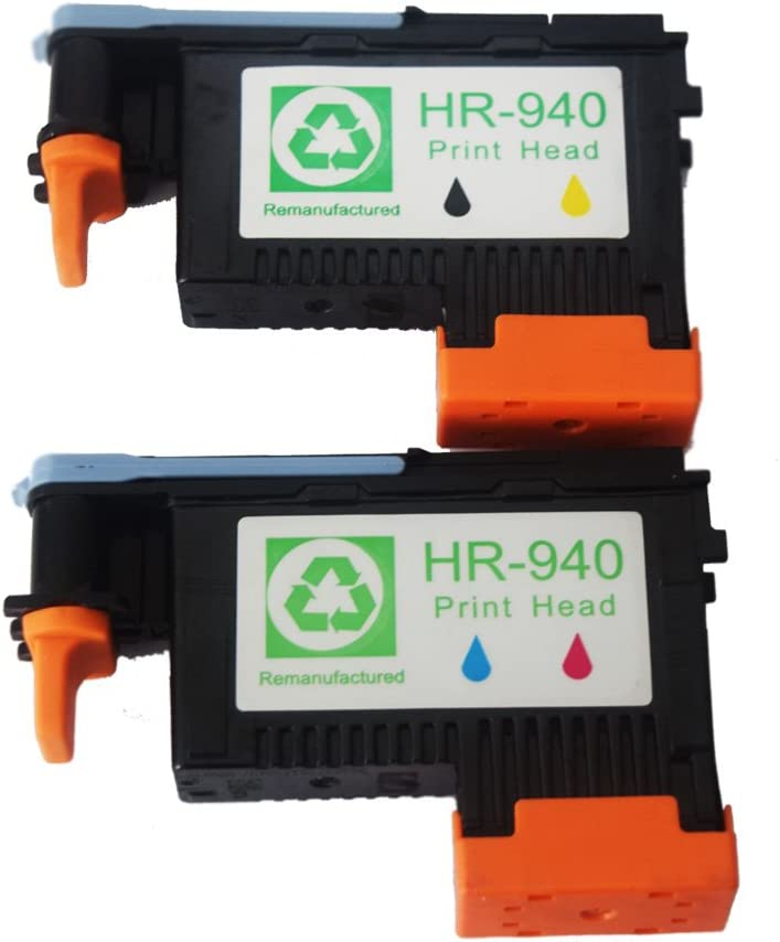 2-Pack 940 PRINTHEAD Print Head C4900A & C4901A for HP OfficeJet Pro 8000 8500