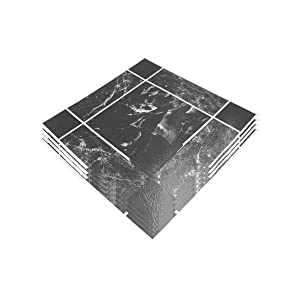 Baldosas autoadhesivas Peel & stick Slip Cocina y Baño vinilo productos Heavy Duty Pack de 4 efecto mármol casa profesional