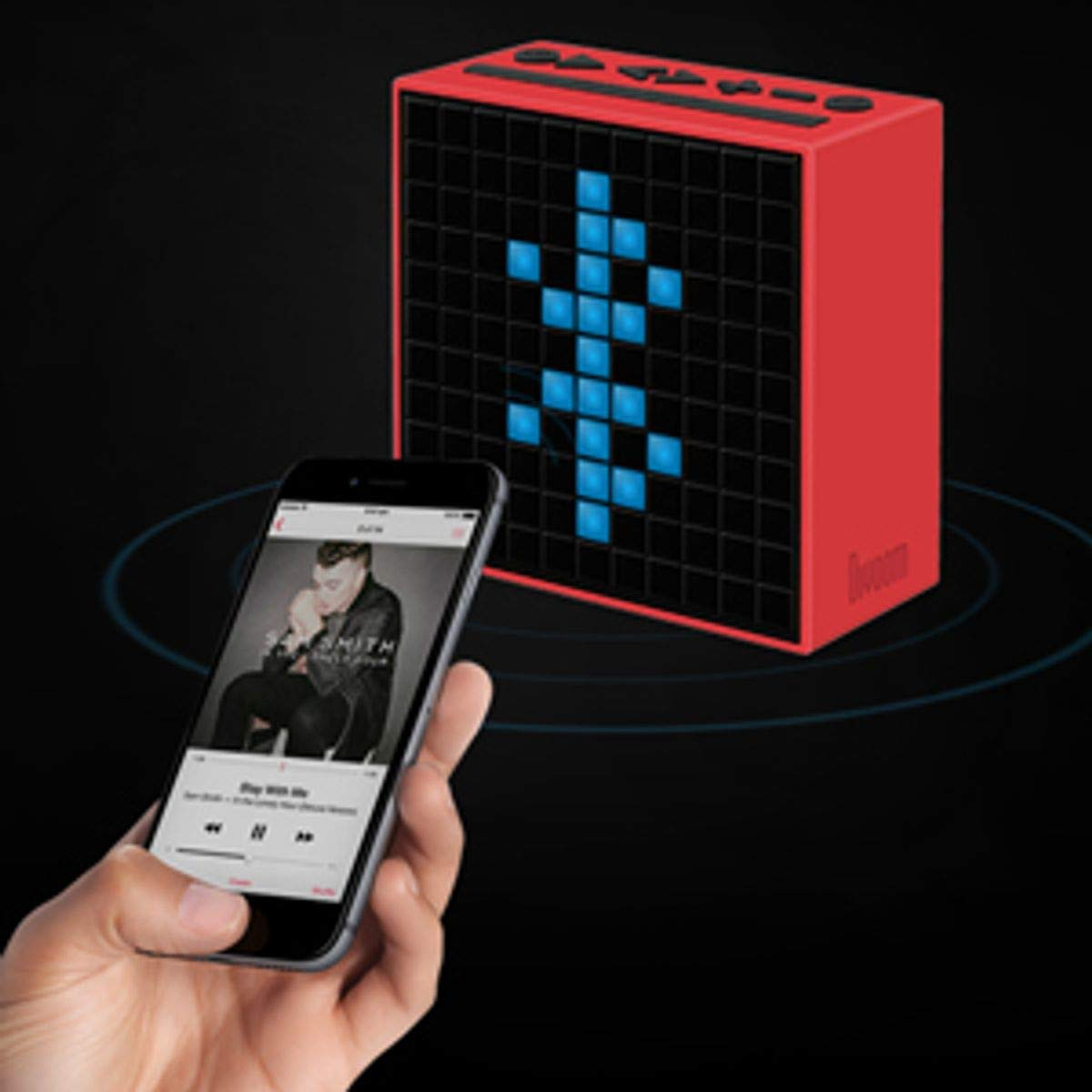 Divoom TIMEBOXBLUE - Altavoz con Bluetooth y efectos luminosos (11