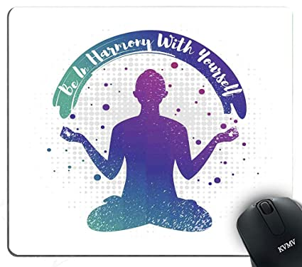 Amazon.com : Gaming Mouse Pads Halftone Style Dots with Yoga ...