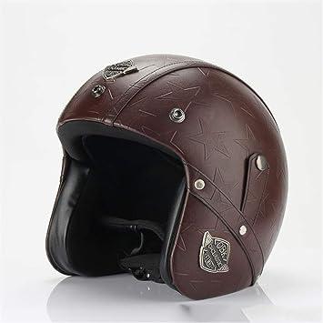 Casco del Motorista De Harley-Davidson, Casco Retro Hecho A Mano De La Motocicleta