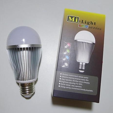 Bsod Mi Light 2.4G AC85-265V Wifi wireless Led bulb RGBWW E27 9W ...