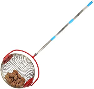 OBALY Nut Gatherer, Garden Rolling Nut Harvester, Picks up Balls, Pecans (9in)