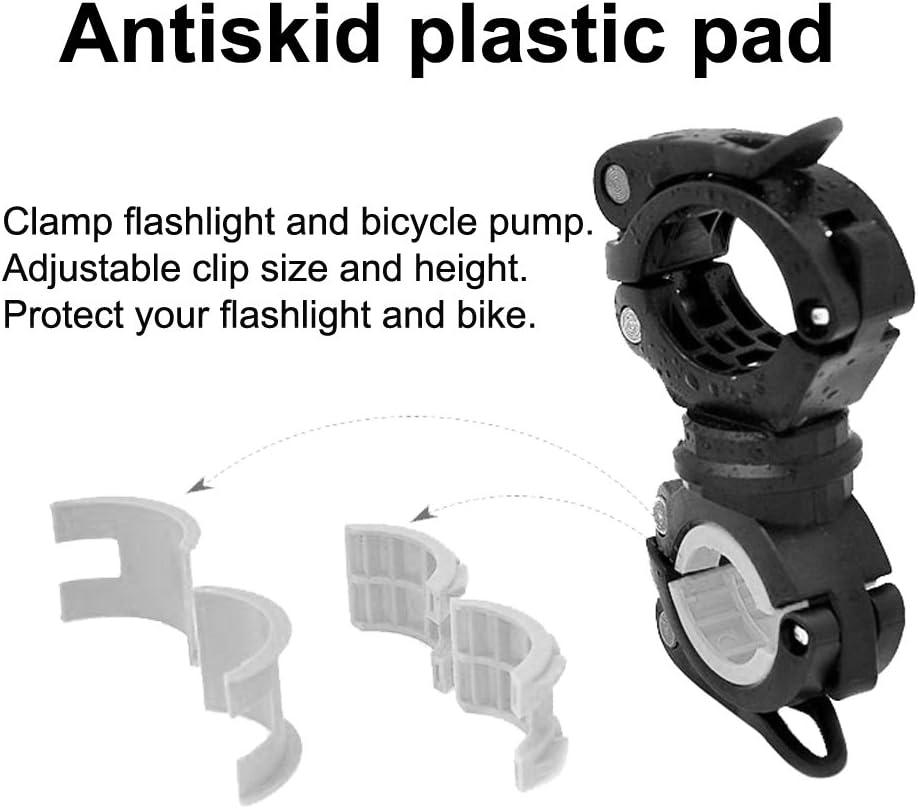 Vonpri 360 Gradi Rotante Bici Manubrio Supporto per Torcia Staffa