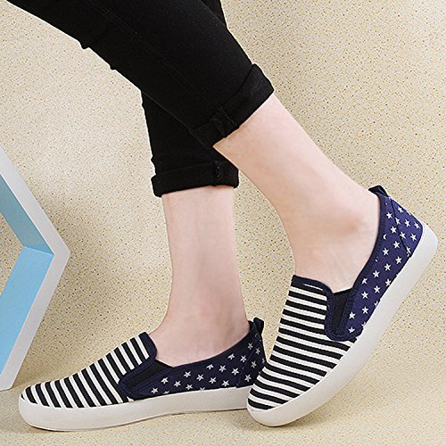 Mode Printemps Running Simple Chaussures Imprimé Frestepvie Toile Femme Confort Sport Fille Voile Casual Tennis Shoes Fitness fOa0qw