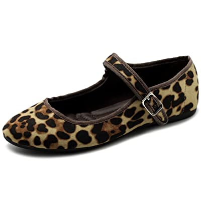 Ollio Women's Shoes Velvet or Faux Suede Mary Jane Ballet Flat | Flats