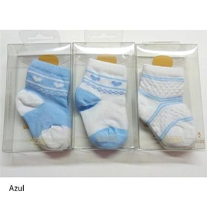 Rodfer - Pack 3 pares calcetines Bebe Fantasía 80/3 Talla 000 - Color Azul