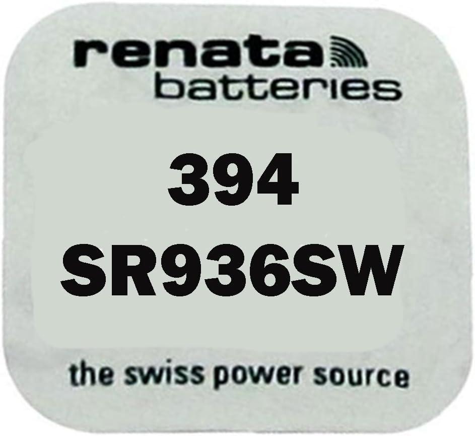 Renata Strip of 10 Genuine Fresh 394 SR936SW Swiss Made Silver 1.55v Batteries