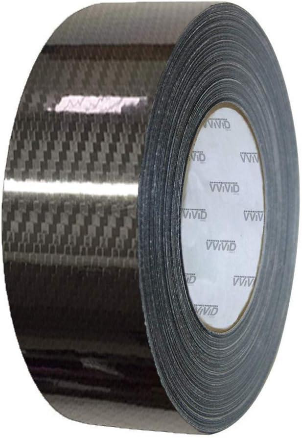 VViViD High Gloss Epoxy Black Carbon Fiber Vinyl Detailing Wrap Tape DIY Roll 2 Inch x 20ft
