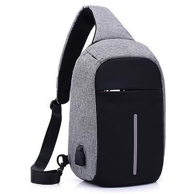 Waterproof Chest Bag Shoulder Sling Bag Crossbody Bag Travel Bakpack Hiking Daypack with USB Charging Port