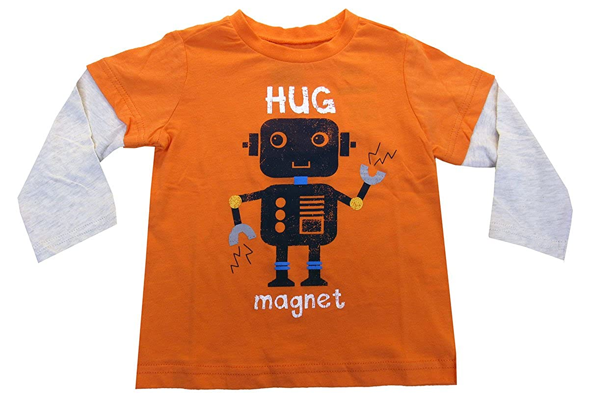 Baby Boys First Impressions Layered-Look Hug Magnet Robot Graphic-Print T-Shirt 12 Months