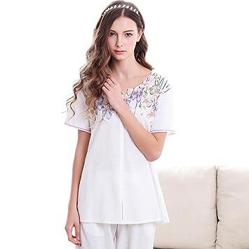 zycloth-womens Lady niña Sexy Sweet cómodo sin mangas vestido de noche pijama camisón Cute