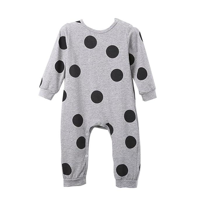 Wolmart recién nacido bebé Niños Ropa Lunares Pelele Jumpsuit Playsuit Outfit: Amazon.es: Ropa y accesorios