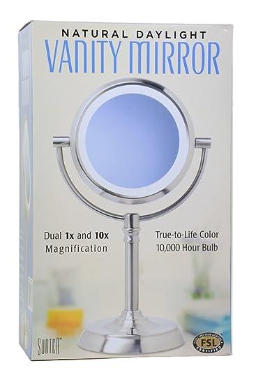 Amazon sunter natural daylight vanity makeup mirror personal sunter natural daylight vanity makeup mirror aloadofball Images