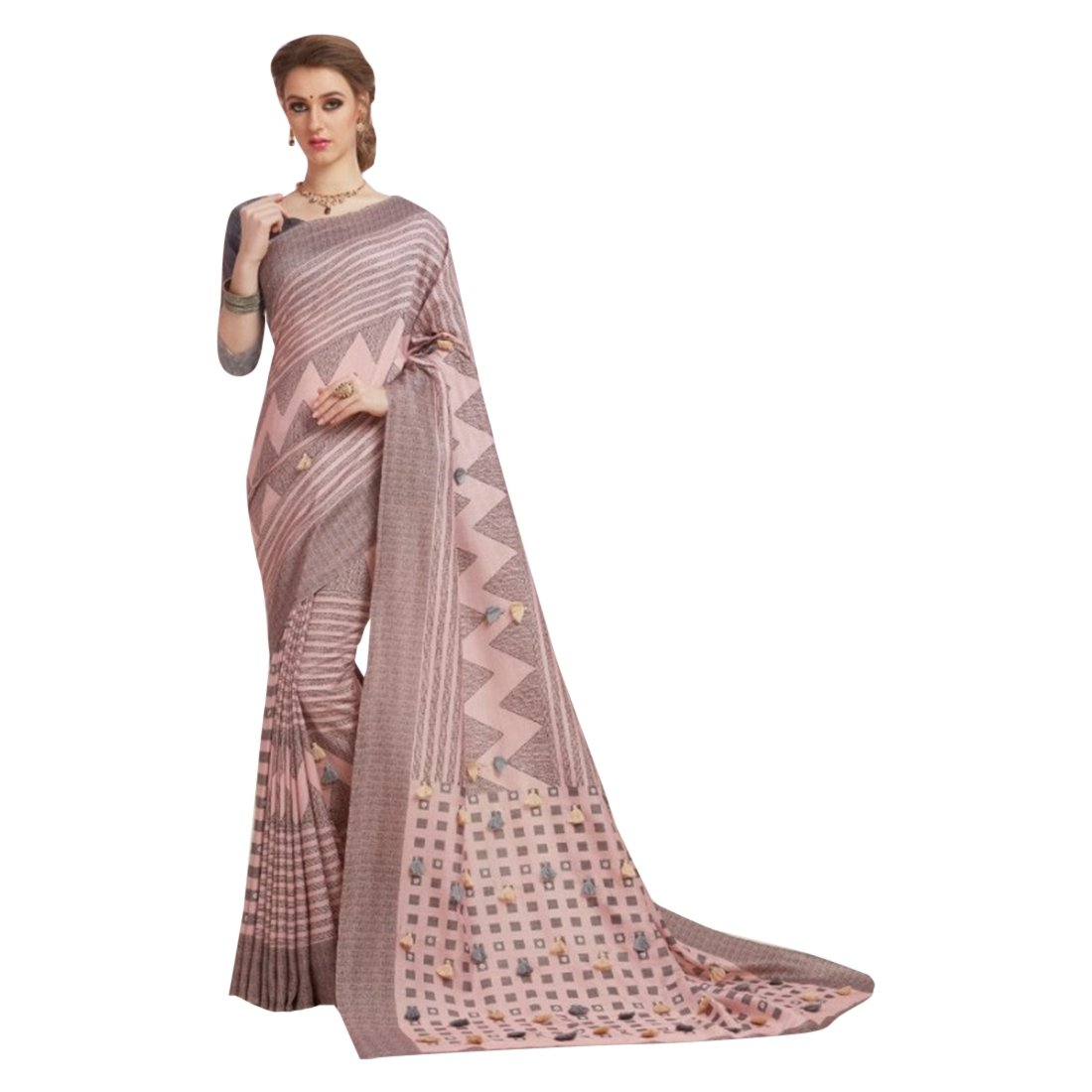 Cotton Silk Indian Bollywood Designer Saree Sari Wedding Ethnic Blouse Ceremony Formal 896