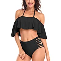 QUEENIEKE Womens Swimsuit Two Piece Shirred Tummy Control Swimwear Monokinis