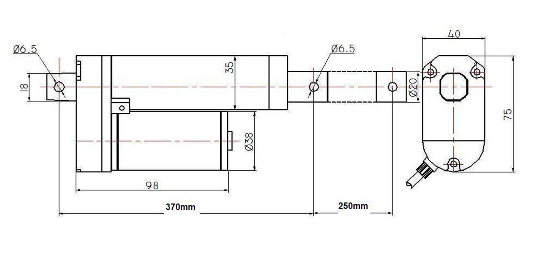 ECO-WORTHY 12V DC 200MM 1500N Lineare Motor Stellantrieb Linearantrieb Linearmotor Solar Tracker Multi-Funktion Chromatisches f/ür Medizinische Automatische Bedienung