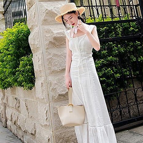 Mayihang vestido Mujer Vestido De Playa Blanca Playa De Vacaciones ...