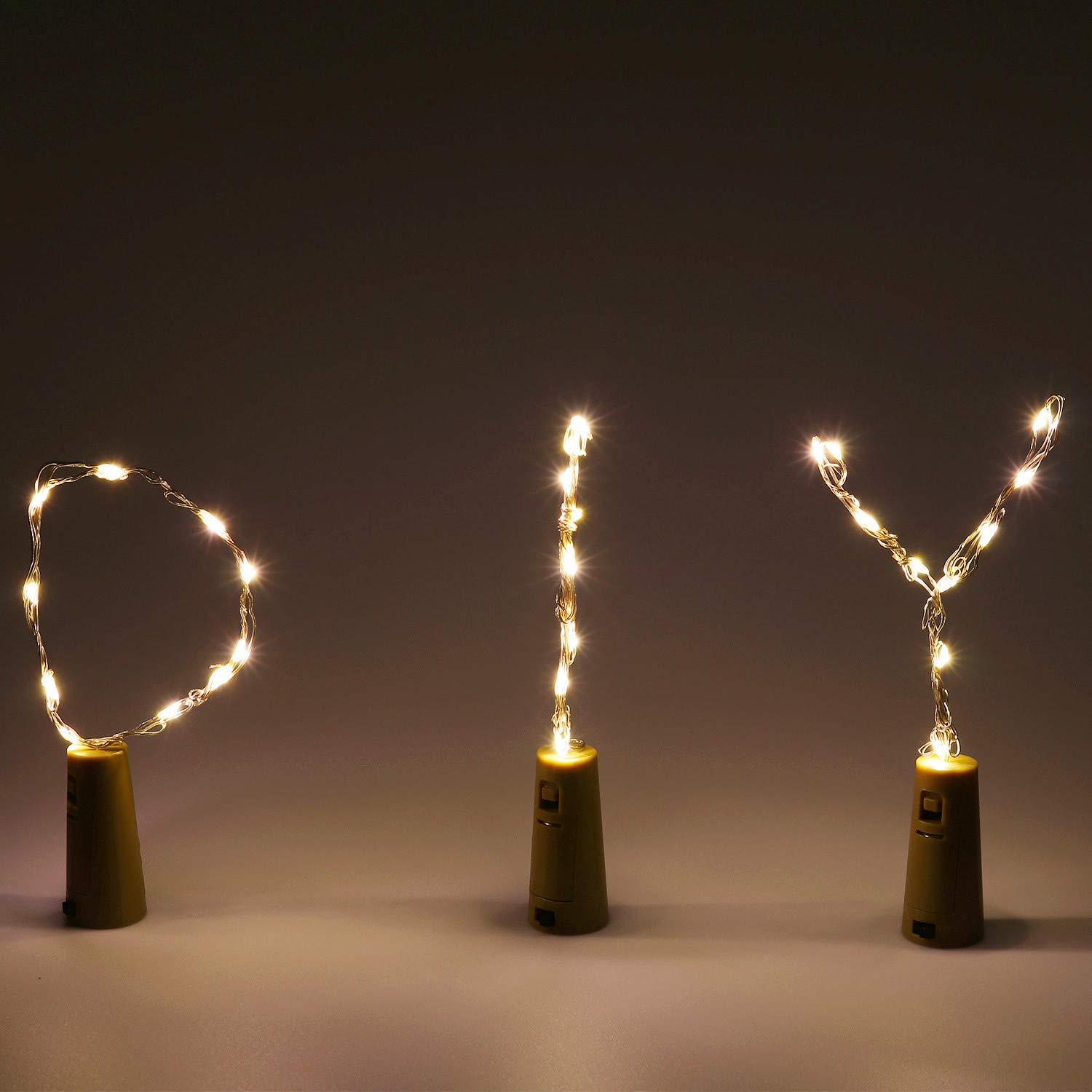 Party DIY Waterproof Wine Bottle Lights with Cork for Wedding Birthday(4 Colors) Happyhobby 12 Pack Bottle Cork Lights Battery Operated 10 LED Succulents Decorations Lights