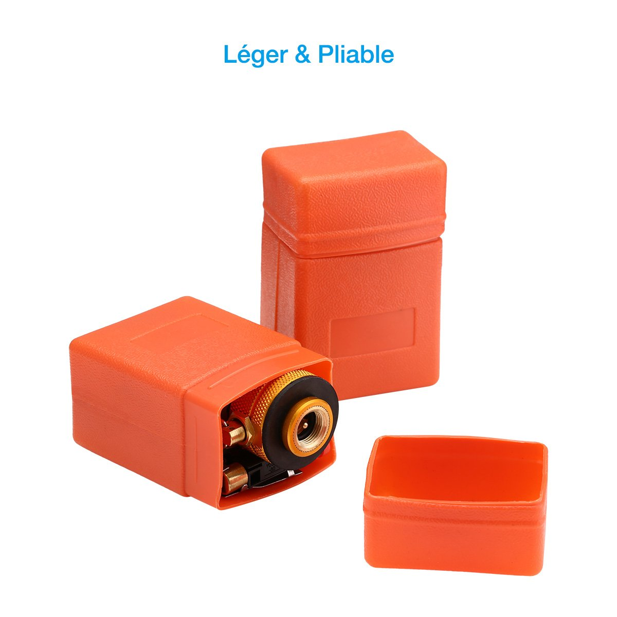 isYoung 2 Lots 8cm*5cm Mini Réchauds, Super Léger & Petit & Puissant, Piable et Portable pour Camping et Voyage.