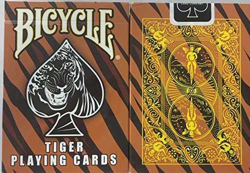 - Bicycle Tiger Deck Playing Cards - Tiger Skin Back Design