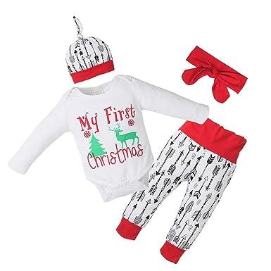 89cc7da57 Domybest 4pcs Set Newborn Baby Clothes Set Letter Print Tops T-Shirt ...
