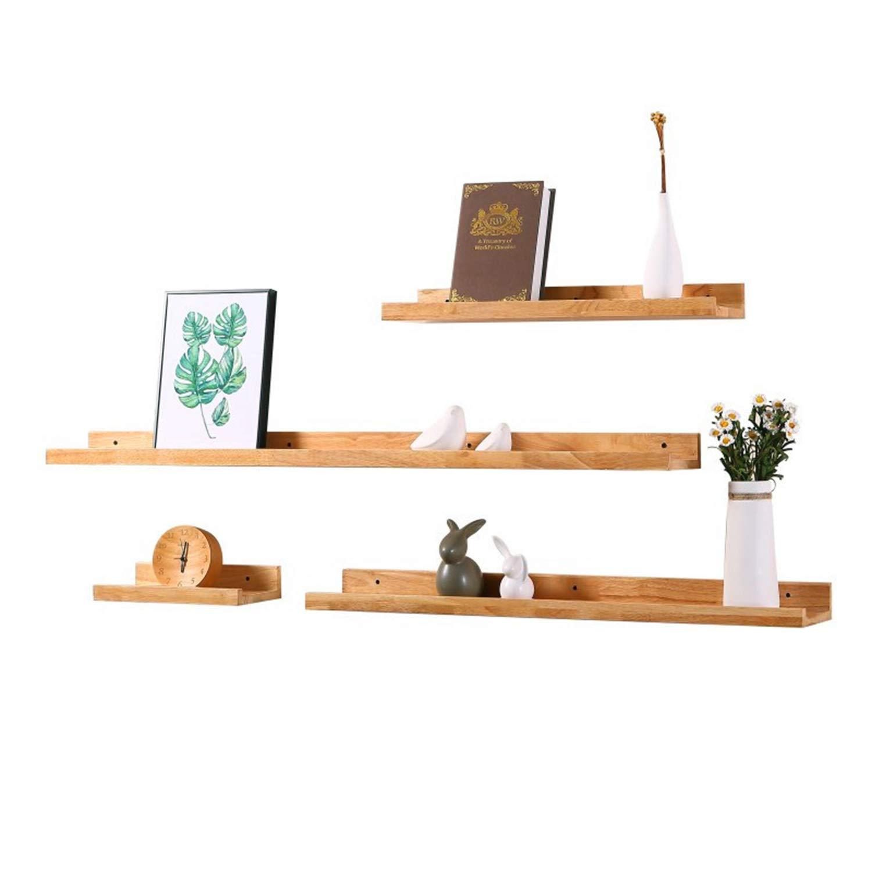 フローティング棚、純木の壁の棚、テレビの壁のリビングルームの壁の棚、木製の装飾的なディスプレイ棚、部屋の仕切り B07T35X9GC
