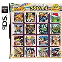 500 Games in 1 DS Game Pack Card Compilations Video Game DS Cartridge Card for DS NDS NDSL NDSi 3DS 2DS XL