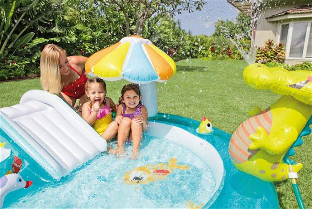 Whryspa Inflatable Swim Center Fun Baby Swimming Pool Toddler Water Spouts Slide Garden Leisure Pool 20317389Cm by Whryspa (Image #3)