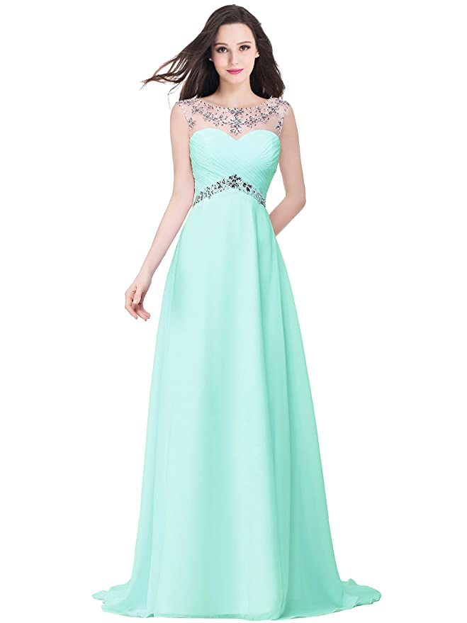 Amazon.com: Babyonlinedress Babyonline Sexy Backless Beaded Chiffon Long Evening Gown 2016 Prom Dress: Clothing