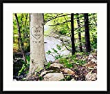 Riverbank Carved Tree Framed Personalized Print