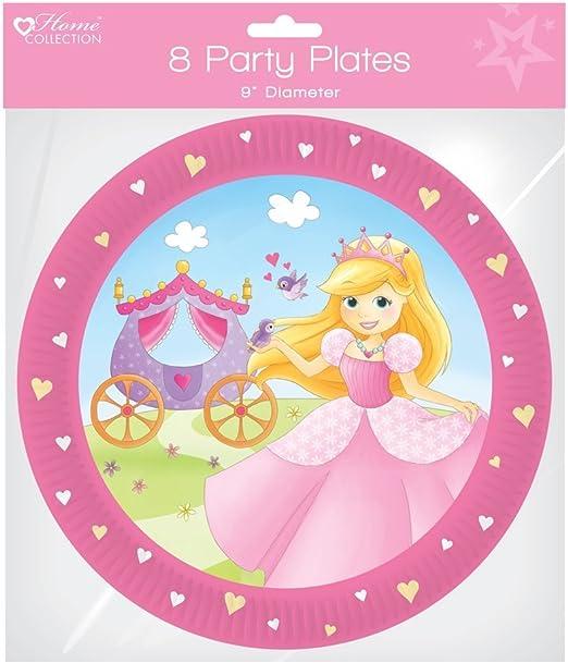 Pack de 8 platos de papel para fiesta de cumpleaños 9