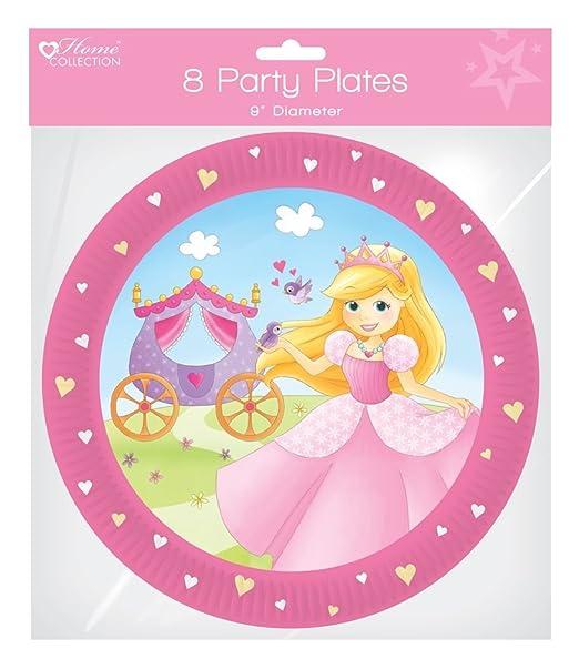 Pack de 8 platos de papel para fiesta de cumpleaños 9 ...