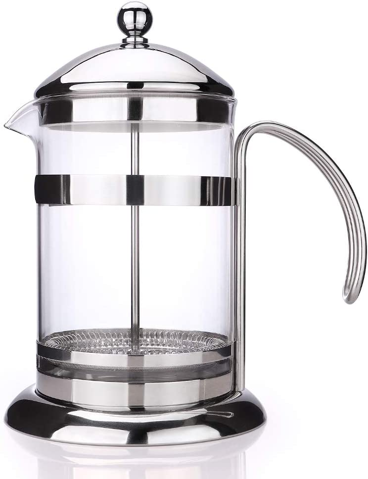 APOTA French Press Coffee Tea Maker,32Oz Coffee and Tea Original French Press with Durable Easy Clean Stainless Steel and Borosilicate Glass 1 , 800ml