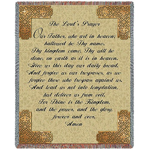 Pure Country Lord's Prayer English Blanket Tapestry Throw (Prayer Tapestry)