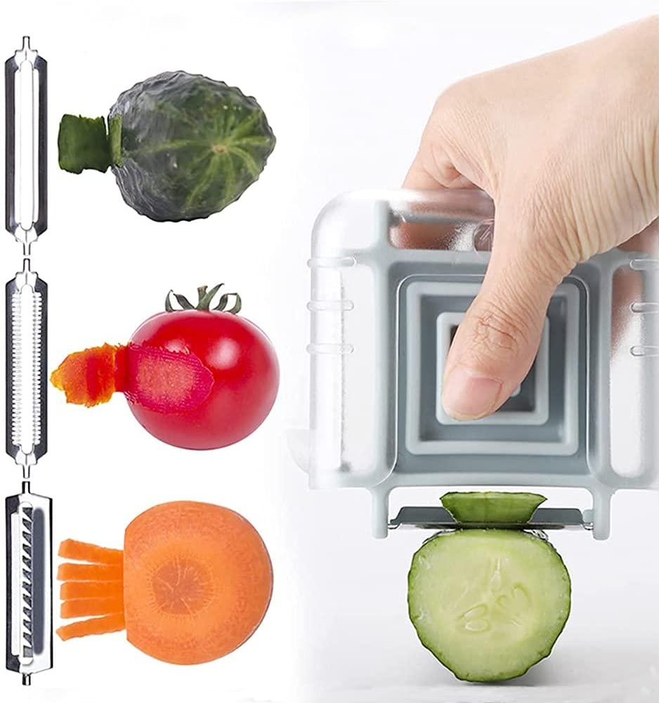 3 in 1 Vegetable PeelerMultifunctional Fruit Stainless Steel Peelers with 3 Sharp