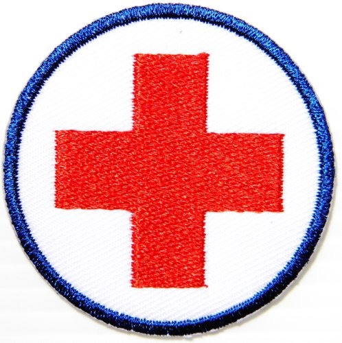 2-american-red-cross-medic-first-aid-nurse-doctor-emergency-logo-jacket-uniform-patch-sew-iron-on-em