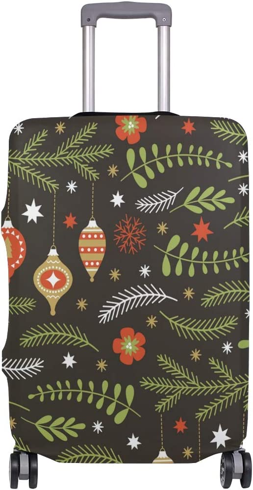 Christmas Tree Travel Luggage Cover Stretchable Polyester Suitcase Protector Fits 18-20 Inches Luggage