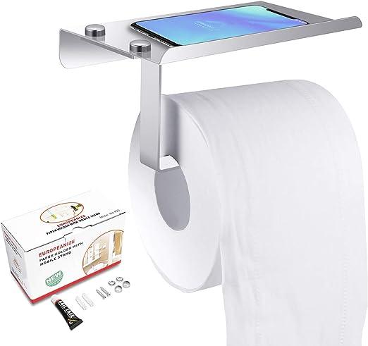 Stainless Steel Bathroom Toilet Roll Holder Wall Mounted Rack Paper Towel Hook