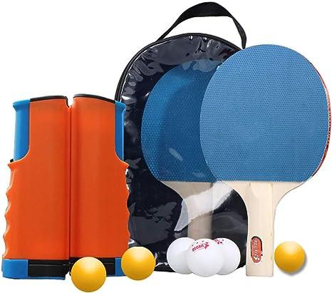 Juego De Estante Telescópico Portátil De Raqueta De Tenis De Mesa Portátil, Raqueta De Tenis De Mesa + Tenis De Mesa + Estante Telescópico + Bolsa De Raqueta De Tenis De Mesa,C: