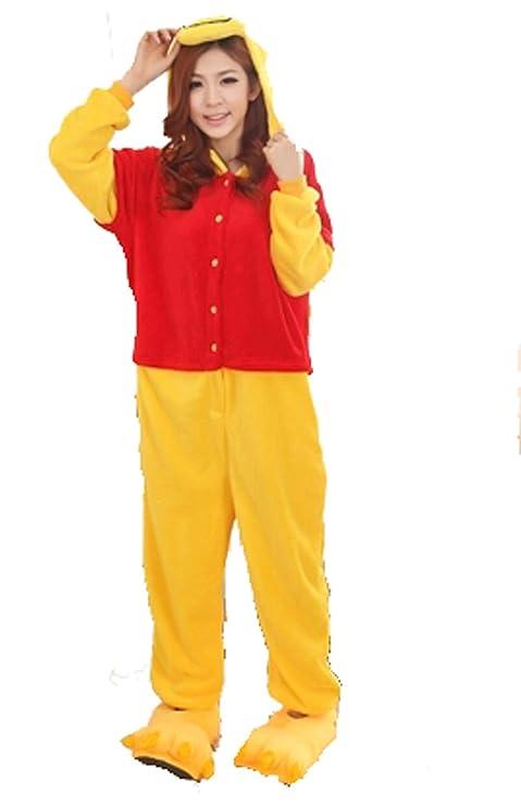 Invierno cálido franela pijama enterizo adulto Winnie Pooh pijama de una pieza Unisex: Amazon.es: Deportes y aire libre