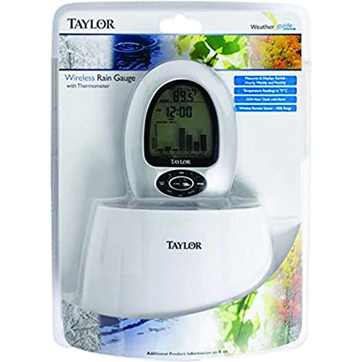 Amazon.com : Taylor 2755 Digital Wireless Rain Gauge & Thermometer : Garden & Outdoor