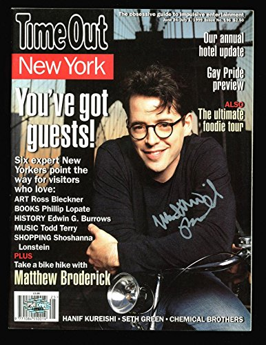 Matthew Broderick Signed Time Out Magazine Autographed #J62662 - PSA/DNA Certified ()