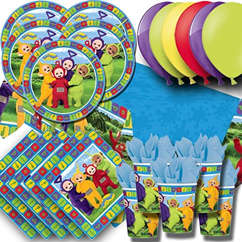 (Signature Balloons Teletubbies Party Pack For 16 - Plates, Cups, Napkins, Balloons And Tablecovers )