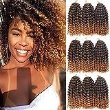 8 Inch Short Marlybob Crochet Hair 9 Bundles/Lot Curly Crochet Braids Ombre Braiding Hair Synthetic Hair Extension (1B/27#)