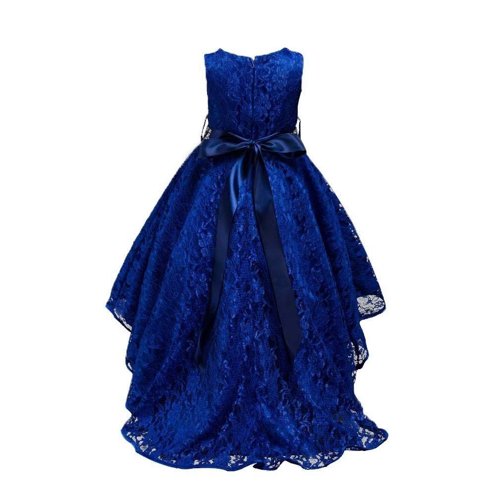 Amazon Com Amazingdeal Dark Blue Girls Kids Lace Sleeveless